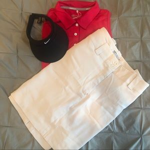 NWT Nike Golf Khaki Skirt w/ hidden shorts 🏌️‍♀️
